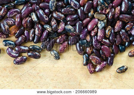 Beans Purple And Black Beans With Strips Of Sorts Railroad, Selugia, Idaho Refuge Scattered On A Woo