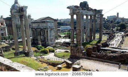 Italy Rome Coliseum amphitheatre the history of gladiators