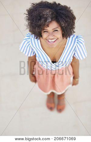 Beautiful Afro American Woman Laughing