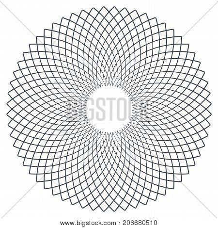 Circle design element. Rotation circular lines pattern. Vector art.