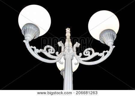 Streetlight in Varna city - the Sea capital of Bulgaria. Unique street lamp located in central street.
