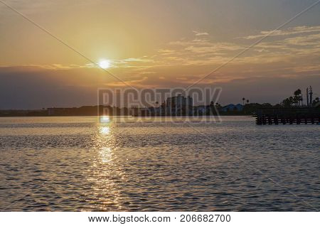 Beautiful sunset at Honeymoon Island State Park, Florida