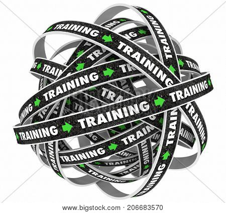 Training Continual Learning Endless Education Loop 3d Illustration