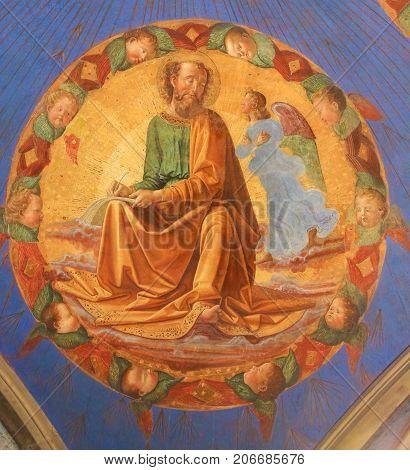 Fresco In San Gimignano - Matthew The Evangelist