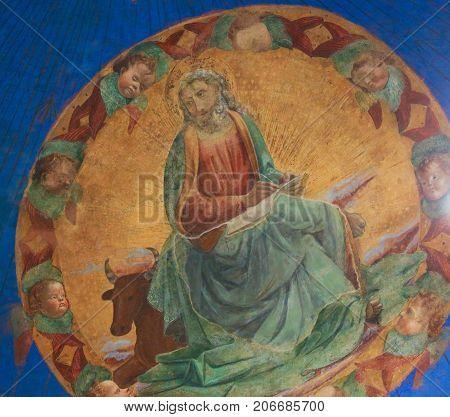 Fresco In San Gimignano - Luke The Evangelist