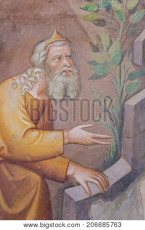 Fresco In San Gimignano Collegiata