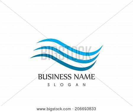 wave beach icon logo vector photo free trial bigstock