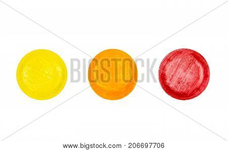 Medical lozenges set for relief cough sore throat and throat irritation isolated on white background with clipping path