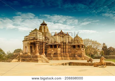 Devi Jagdambi Temple dedicated to Parvati Western Temples of Khajuraho. it's an UNESCO world heritage site - popular amongst tourists all over the world.