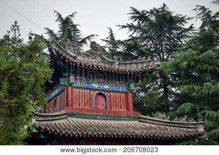 One of the watchtowers in Shaolin monastery in Henan province in China.