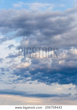 clouds after a thunderstorm . Photo of abstract background