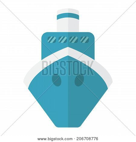 Ship flat icon, transport and boat, travel sign vector graphics, a colorful solid pattern on a white background, eps 10.