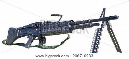 the M60 machine gun on white background