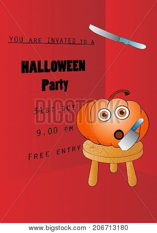 humor halloween party invitation poster or flyer