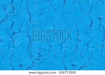 Modern abstract painted light blue street stone wall, seamless texture