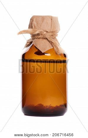 Bottle With Tincture Isolated On White Background
