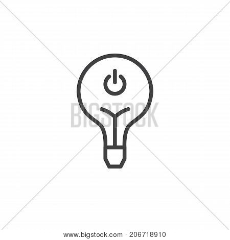 Light bulb off line icon, outline vector sign, linear style pictogram isolated on white. Symbol, logo illustration. Editable stroke