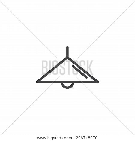 Lamp off line icon, outline vector sign, linear style pictogram isolated on white. Ceiling light symbol, logo illustration. Editable stroke