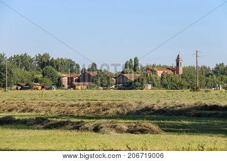Scenic surroundings of the Villa Sorra park. Castelfranco Emilia Modena poster