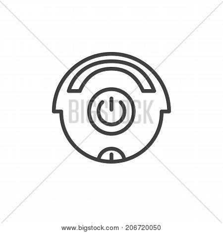 Cleaner off line icon, outline vector sign, linear style pictogram isolated on white. Symbol, logo illustration. Editable stroke