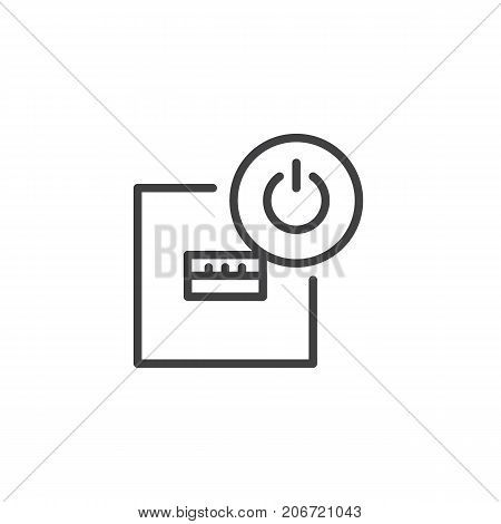 usb port off line icon, outline vector sign, linear style pictogram isolated on white. Symbol, logo illustration. Editable stroke