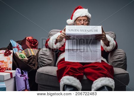 Santa Claus Reading Business News