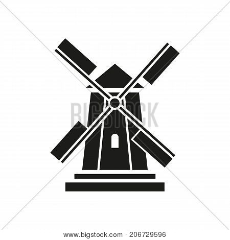 Icon of Holland windmill. Agriculture, production, equipment. Landmarks concept. Can be used for topics like countryside, tourism, village