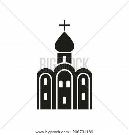 Icon of Russian church. Holy, Russian church , cross. Landmarks concept. Can be used for topics like culture, religion, cathedral