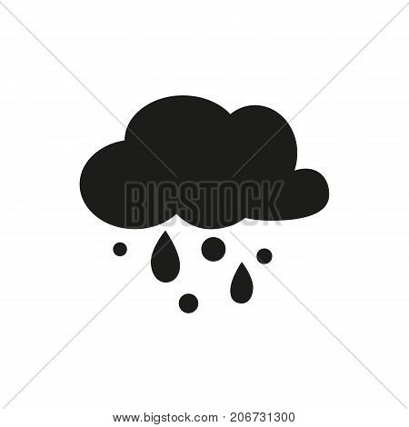 Simple icon of shower of hail. Hailstorm, sleet, precipitation. Weathercolored concept. Can be used for topics like weather, climate, forecast