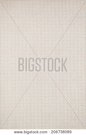 White woven textile fabric swatch for backgrounds