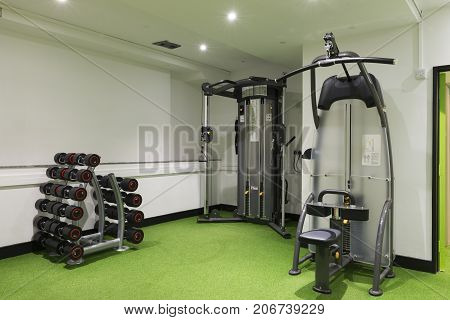 Dumbbell Set, Cable And Lateral Machines Gym Equipment