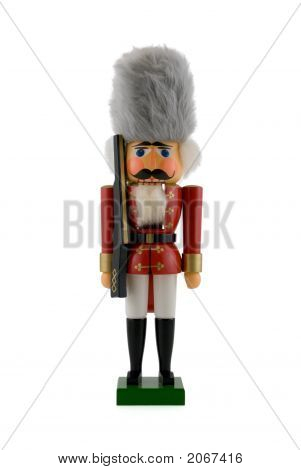 Nutcracker Soldier Isolated On White