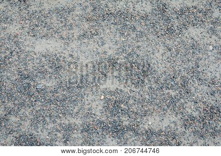 Stone Rock Pieces Crushed Gravel Texture. Fine Gray Crushed Stone