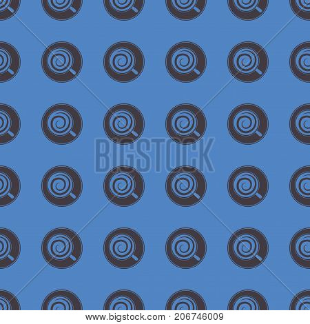 Coffee vector illustration on a seamless pattern background. Set of elements