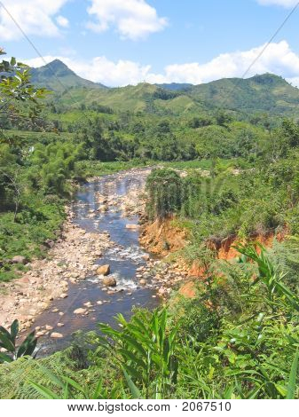 River And Red Ground, Andapa, Marojejy Park, Madagascar