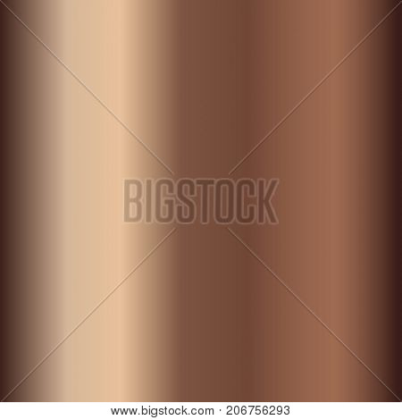 Bronze gradient. Beige gradient illustration for backgrounds, cover, frame, ribbon, banner, coin, label flyer card poster etc Vector template EPS10