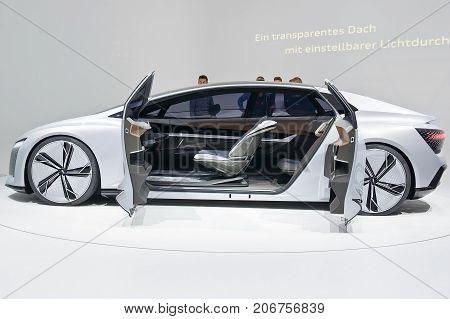 Frankfurt-September 20: Audi Aicon Concept at the Frankfurt International Motor Show on September 20 2017 in Frankfurt