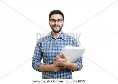 Young Man With Textbook