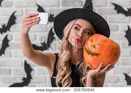 Girl Ready For Halloween Party