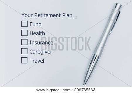Preparedness planning Before Retirement. Your Retirement Plan Checklist.