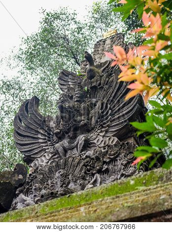 Statue Of Garuda or humanoid-bird Ubud Indonesia