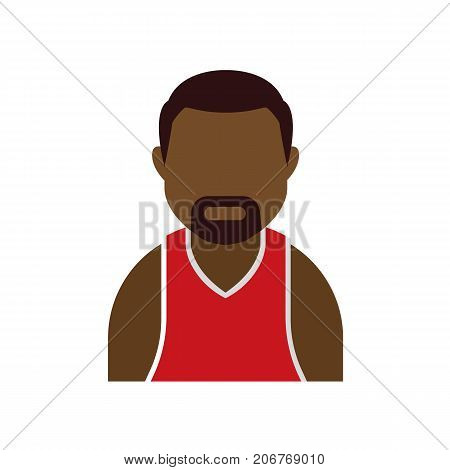 Basketball player avatar icon. Basketball profile icon. Vector stock.