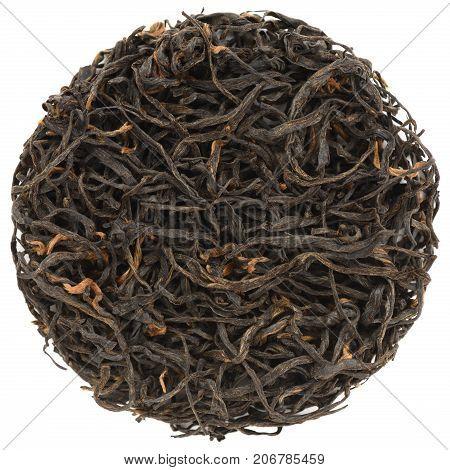 Zheng Shan Xiao Zhong Black Tea round shape