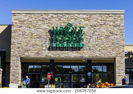Indianapolis - Circa September 2017: Whole Foods Market. Amazon announced an agreement to buy Whole Foods for $13.7 billion VII