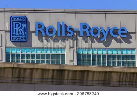 Indianapolis - Circa September 2017: Rolls-Royce Aerospace Jet Turbine Plant. More Rolls-Royce products are built in Indianapolis than anywhere else in the world IX
