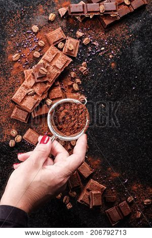Chocolatier Sprinkles Pieces Of Chocolate Cocoa Powder