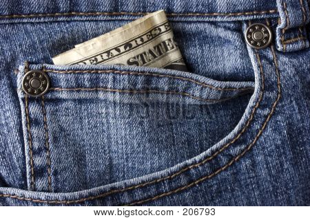 Jeans And A Dollar Bill