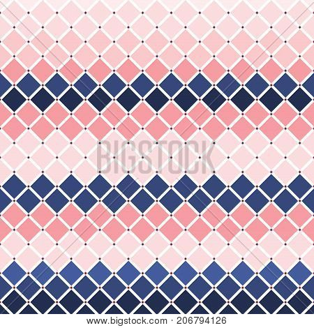 Flat Illustration of diamond checker tiles background.