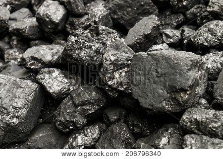 Natural Black Coals For Background.