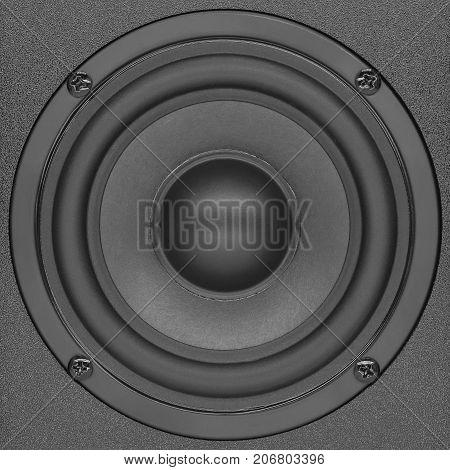Stereo speakers in wooden case audio speaker